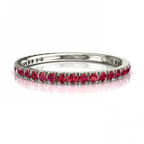 Alliance diamant Ruby de 0.33 carats en or blanc Anaïs