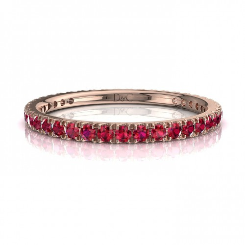 Alliance Rubis de 0.33 carats en or rose Anaïs