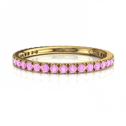 Alliance Saphir Rose de 0.33 carats en or jaune Anaïs