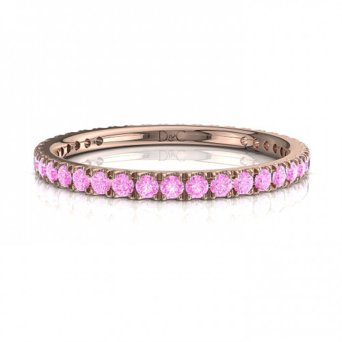 Alliance Saphir Rose de 0.33 carats en or rose  Anaïs