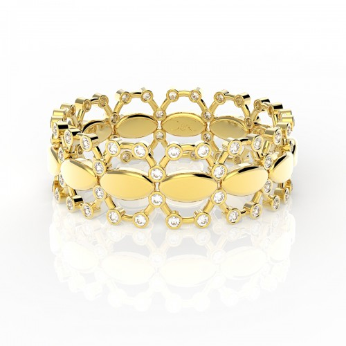 Bague diamants 0.24 carats en or jaune  Agnese