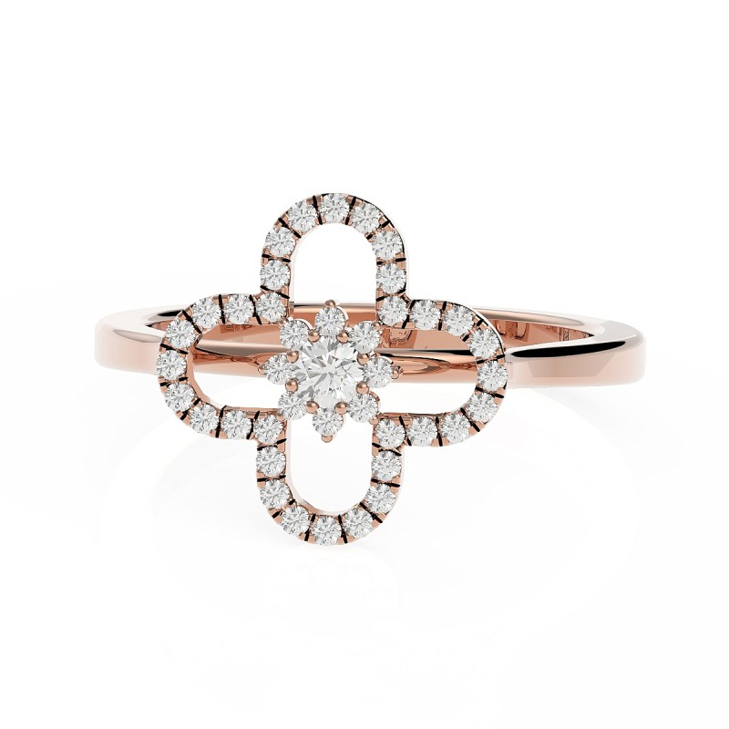 Bague diamant de 0.20 carats or rose Ariana
