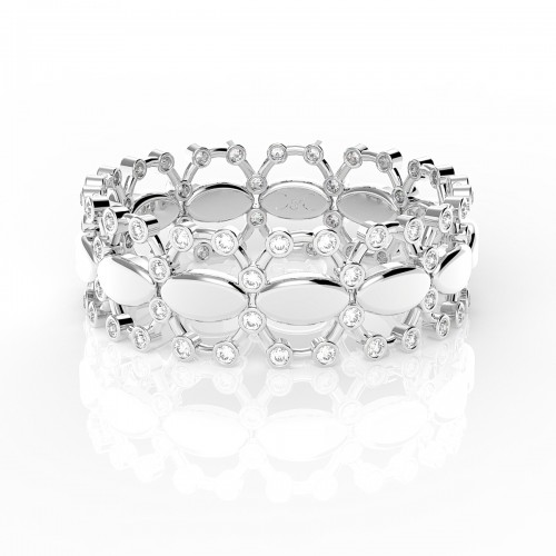 Bague diamants 0.24 carats en or blanc  Agnese
