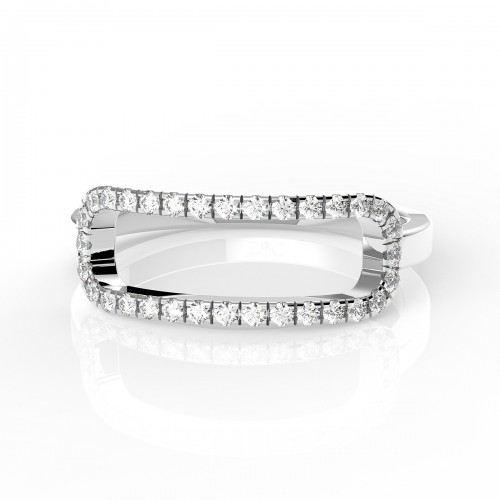 Bague diamant 0.21 carats or blanc Aida